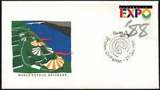 Australia 1988 Expo, Hawaii día cubierta #C44056