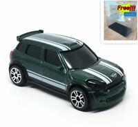 Majorette Mini cooper WRC Green 1/57 294F New no Package Free Show Box