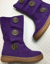 Nib Livie And Luca Marchita Suede Leather Boot Size 5 Toddler Girls Shoes Grape