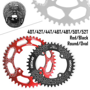 DECKAS MTB 40T-52T Narrow Wide Round Oval Chainring Chain Ring BCD104mm Bike