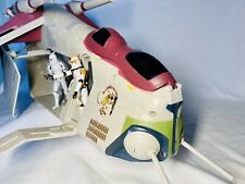 Hasbro Star Wars (Clone Wars) Republic Gunship Crumb Bomber complete w missiles