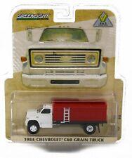 NEW! 1:64 Greenlight 1984 Chevrolet C60 *GRAIN TRUCK* WHITE & RED *NIP*