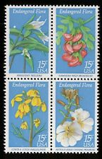 #1786a 15c Endangered Flora, Se-Tenant Block, Mint **ANY 5=FREE SHIPPING**