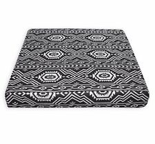 AL252t White Black Geometric Cotton Canvas 3D Box Seat Cushion Cover Custom Size