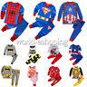 Toddler Kids Baby Boy Girl Sleepwear Night Homewear Superhero Outfit Set Pajamas