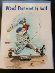 "Leanin' Tree Baseball Theme Birthday Card ""Fast Ball"" By Gary Patterson"