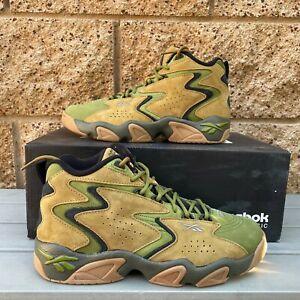 Reebok Mobius Atmos Men's Acid Gold/Vintage Green Baskerball Sneaker DV8496