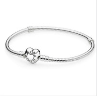 NEW 925 Silver Snake Chain Bracelets Bangle Suit sterling European Beads Charm