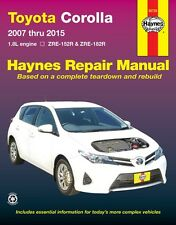 NEW HAYNES WORKSHOP SERVICE REPAIR MANUAL TOYOTA COROLLA 2007-2015 ZRE 152R 182R