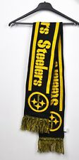 PITTSBURGH STEELERS Scarf 100% Acrylic NFL Worm soft logo Official Fan Vtg Gift