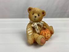 "Enesco Cherished Teddies ""Oscar"" October Bear Figurine #914843 Pumpkin P Hillman"