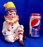 """LEGO Decorative Vintage Hand Painted Clown Porcelain Boy Statue Figurine 7"""""""