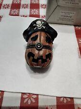 Boyds Stuff Enesco Pegleg's Pirate Jack-O-Lantern With Patch McNibble