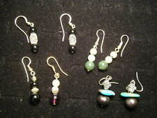Group of 3 Pairs 1980s stone hanging earrings all for one money plus a bonus