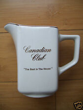 """Vintage Canadian Club Ceramic Water Pitcher Jug """"The Best In The House"""" Kingwood"""
