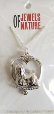 Shih Tzu Dog Pendant-Necklace, Rhodium Plated-Crystal-18 inch Chain