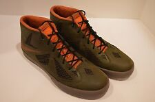 Men's Nike Lebron X NSW Lifestyle Dark Loden Gum Dark Brown 604826-300 Size: 12