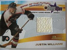 2001-02 BOWMAN FABRIC OF THE FUTURE JUSTIN WILLIAMS ,FLYERS !! BOX 7