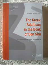 The Greek Addictions in the Book of Ben Sira (Severino Bussino, Osa)   BF/8