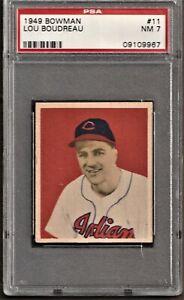1949 Bowman Baseball # 11 Lou Boudreau PSA 7