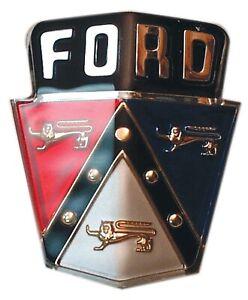 1950 1951 Ford Car Hood Emblem Medallion Plastic Insert Crest