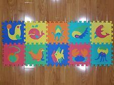 EVA Non-Toxic Foam 10 Piece Puzzle Baby Toddler Kid Play Mat Sea Animals 12 x 12