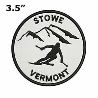 Stowe Vermont Extreme Sports Skier Embroidered iron-on Patch Badge Sew-on Emblem