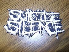 SUICIDE SILENCE,IRON ON WHITE EMBROIDERED PATCH