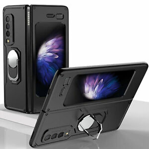 For Samsung Galaxy Fold 1st Generation Shockproof Hybrid Armor Ring Case Cover