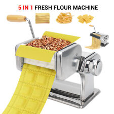 Durable Stainless Steel Pasta Maker Machine Fettuccine Lasagne Cutter Easy Clean