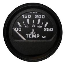 "Faria Euro Black 2"" Water Temperature Gauge (100-250°F)"