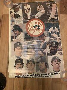 Vintage New York Yankees Poster Ready For The 80's Reggie Jackson Tommy John