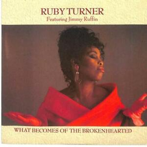 """Ruby Turner What Becomes Of The Brokenhearted UK 7"""" Vinyl 1988 RTS5 Jive 45 EX"""