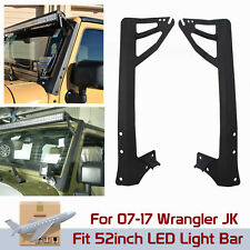 2007-2017 Jeep Wrangler JK Mount Bracket Fit For 52inch LED Light Bar A Pillar