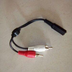 adaptateur audio 2 RCA FEMELLE ET JACK MALE 3,5 MM