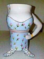 Blue Sky Clayworks Footed Full Figured Lady Bosoms Dress Shoes Coffee Cup Mug