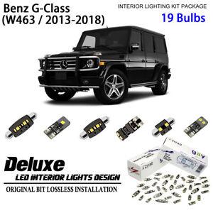 Deluxe LED Interior Light Kit Xenon White Dome Bulbs for 2013-2018 Benz G-Class