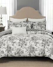 Rose Tree Signature Toledo 3P King comforter shams Jacobean Floral Grey Cream