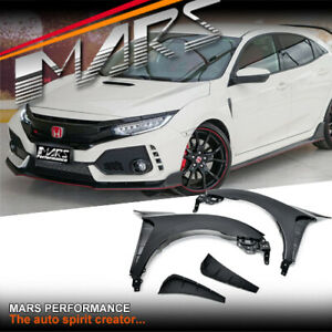 Type-R Style Bodykit Side Fender Guards & Air Vents for Honda Civic X FC 16-20