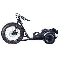 Wicked Fast ScooterX BLACK Drifter Mini Drift Trike Bike 49cc Gas Powered GoKart