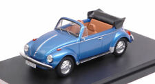 Volkswagen VW Super Beetle Convertible 1973 Metallic Blue 1:43 Model PREMIUMX