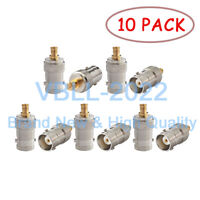 10X MCX Male Plug to BNC Female Jack Adapter Connector RF Straight Coax For SDR