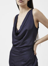 VIVIENNE WESTWOOD ANGLOMANIA Virginia Cowl Neck Satin Dress Navy Size IT 40 UK 8