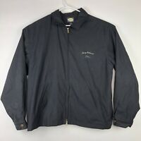 Black Tommy Bahama Golf Logo Full Zip Windbreaker Jacket Sz L Large Embroidered