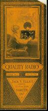 Super Rare Vintage 1924 Jack V Elliot Radio Electronics Catalog Radios & More