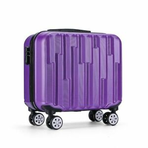 "Unisex Fashion 18"" Travel Luggage Spinner Wheels Boarding Case Trolley Suitcase"