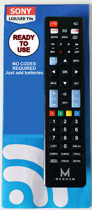 SONY REMOTE CONTROL A UNIVERSAL REPLACEMENT THAT WORKS ALL SONY TV MODELS