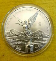 2015 5 oz Mexico Silver Libertad BU ! 5 Onzas Plata Pura ! Pop of Only 9,500 !!