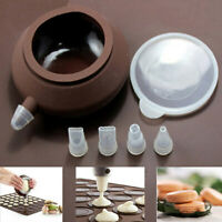Silicone Macaron Cake Decorating Pot Nozzles Set Piping icing Baking Tools