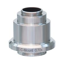 07x Stainless Steel C Mount Camera Adapter For Leica Microscopes